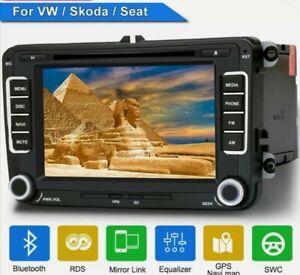 "7"" 2DIN Radio Navi GPS BLUETOOTH DAB+ DVD Para VW Passat Touran Polo Seat Jetta"