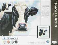 """Paint Works Paint By Number Kit 11""""X11"""" Cow 088677917319"""
