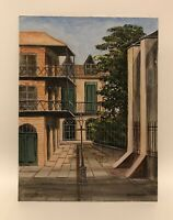 """Vintage Pirate's Alley Oil Painting Signed Paul Samson New Orleans La 16"""" X 12"""""""