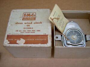 51 Ford stem wind clock, 1A-15000-A, NOS
