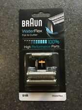 Braun Replacement Part 51B Foil & Cutter Block for Waterflex Shavers. BLACK.