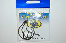 team catfish hooks real gear double action circle hook 5/0 #tc81z 4 per pack