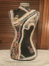 Jewelled Mannequin Torso with Pearls and Diamante Chain.