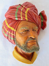 VTG Bossons Wall Ornament Chalkware Face of ABDHUL HandPainted England