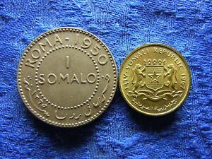 SOMALIA 1 SOMALO 1950 KM5, 5 CENTS 1967 UNC KM6