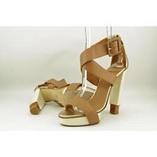 Zapatos de tacón de mujer de piel color principal marrón Talla 39