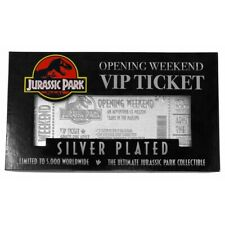 Jurassic Park Silver Plated Replica Park Entry Ticket Limited To 5000 Worldwide!