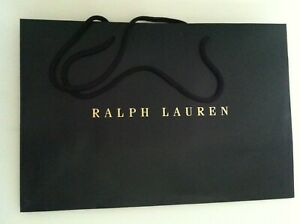 """POLO RALPH LAUREN SHOPPING BAG IN PRISTINE CONDITION SIZE: 15 7/8""""X 10 3/4""""X 6"""""""