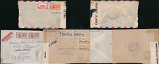 MARTINIQUE to FRENCH GUIANA 1940-44 CENSORED AIRMAIL 3 ITEMS...FAULTS