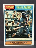 1976 Topps Hank Aaron #1 Record Breaker EX-NM Brewers Atlanta Braves HOF