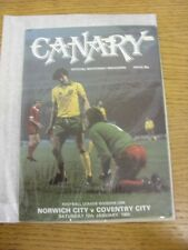 12/01/1980 Norwich City v Coventry City  . Thanks for viewing our item, buy with