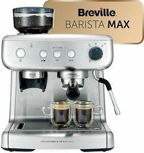 Breville Barista Max VCF126X Machine Of Espresso Coffee Automatic Grinder 15 BAR
