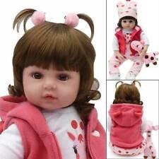 """19"""" Realistic Reborn Handmade Pretty Baby Girl Boy Doll Giraffe & Feeding Bottle"""