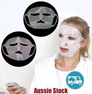 NEW Reusable Silicone Skin Care Japan Korean Facial Sheet Mask Cover Holder