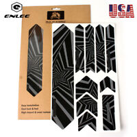 3D Reflective Frame Sticker Protector Repeat Paste MTB/XC Bike Scratch-Resistant