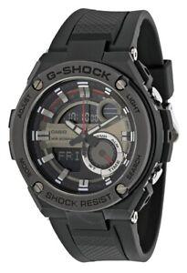 Casio G-Shock World Time Black Dial Black Silicone Men's Watch GST210B-1A SD