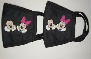 DISNEY MICKEY MINNE* Adult Face Mask 2 Pack  Cotton