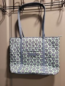 Vera Bradley Large Tote Bag Blue and Green