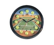 "11"" Sports Theme Tennis Wall Clock With Tennis Ball Markers New"