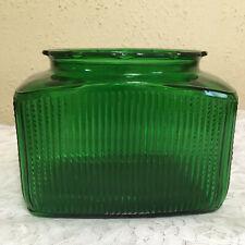 Vintage Emerald Green Rib Glass Rectangle Vase – A.L.R. Co R-17