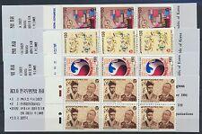 Korea Süd 1805/08 postfrische Markenheftchen / UPU .............................