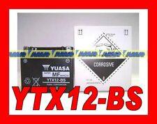 BATTERIA MOTO SCOOTER YUASA YTX12-BS  YTX12 BS ORIGINALE 0651090