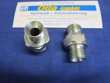 """Verschraubung zöllig 3/8 AG x 3/8"""" AG Hydraulik Adapter Doppelnippel Zollgewinde"""