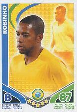ROBINHO # BRAZIL TRADING CARD MATCH ATTAX STARS MONDIALES TOPPS 2010