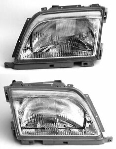 Headlight Set Left Right For Sl R129 W129 Mercedes-Benz With Pneumatic Lw