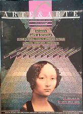 ARTE & ARTE INCHIESTA ARTE & SCUOLA. COME SI STUDIA, COSA SI..LUGLIO 1991 N. 2