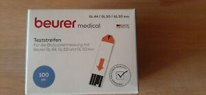 BEURER GL44/GL50/GL50evo Blutzucker-Teststreifen 100 St PZN 09929677