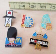 McDonalds London, NY, Moscow, Japan, Mexico city, pin set of 5 p.
