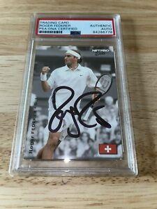 Roger Federer Signed 2003 NETPRO Elite Trading Card Tennis Legend PSA/DNA