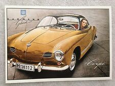 Volkswagen Karman Ghia Coupe Lady Post Card 1st On eBay Car Postcard. Own It!