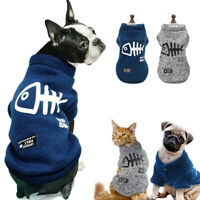 Dog Winter Clothes Velvet Padded Sweater Apparel For Small Medium Dogs Warm Coat