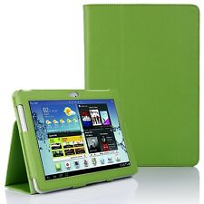 Leather Stand Case Cover for Samsung Galaxy Tab 2 10.1 Inch P5100 P5110 - Green