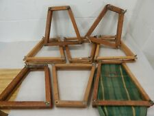 Lot of 8 Vintage Wooden Tennis Racket Racquet Wood Press Head Clamp Holder