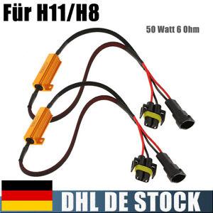 2x H11 Widerstände Stecker Can-Bus 50 Watt 6 Ohm 12 V Für LED Nebelscheinwerfer