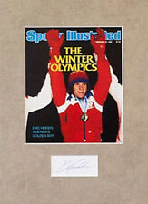 ERIC HEIDEN signed card matted with 1980 Olympics SI front cover