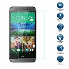 PREMIUM 100% CLEAR HD LCD TEMPERED GLASS SCREEN PROTECTOR FOR  HTC ONE M8 2014