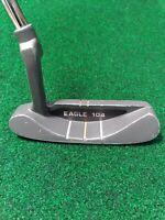 """Classic Spalding EAGLE 104 Blade Putter Accu-Flex Steel 35"""" Original Grip"""