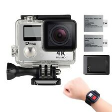 4K Wifi Sports Action CameraUnderwater Camcorder Qipexeii Double Screen Son