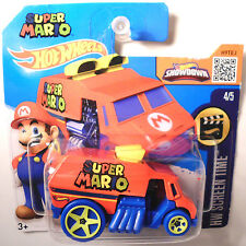 Hot Wheels Super Mario Cool One Nintendo Kult Game Movie Screen top Time Van(H71