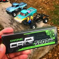 Ovonic 50C 5000mAh 7.4V 2S Lipo Battery Harcase with Deans Plug for RC Car Truck