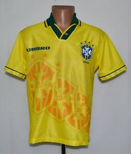 BRAZIL NATIONAL TEAM 1994/1997 HOME FOOTBALL SHIRT JERSEY UMBRO SIZE Y (XS)