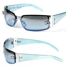 New DG Womens Fashion Designer Sunglasses Shades Silver Blue Retro Vintage 80s