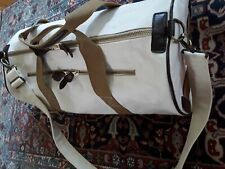 THE QUALITY MENDING CO. ⊙ORIGINAL CANVAS DUFFLE⊙LEATHER TRIM ⊙NATURAL⊙PERFECTION