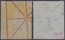 Toscana altitalien 1 pagarme león 1853 Sassone 2 bolo Muto a ragno Rosso RR € 3000