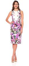 Maggy London Women's Floral Garden Cotton Sheath Dress Sz 10 US