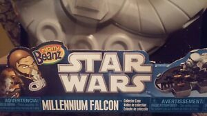 NEW Toys R Mighty Beanz Star Wars Millennium Falcon Collector Case & 2 exclusive